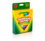 Anti-Roll Triangular Crayons 16 ct.