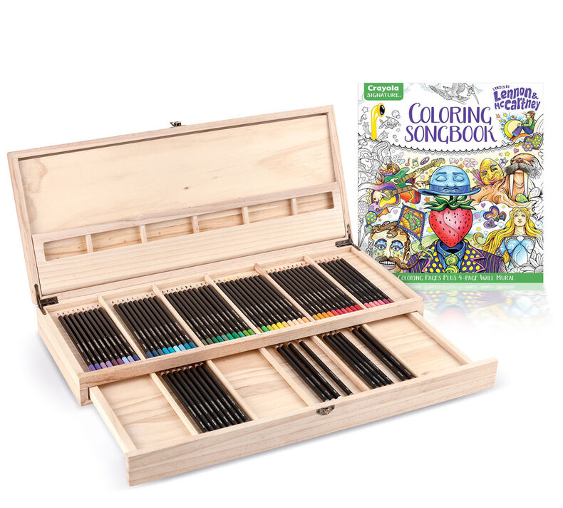 Lennon & McCartney Coloring Book and Wooden Art Case Gift Set