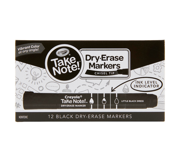 Take Note Dry Erase Markers, 12 Count - Choose You Color