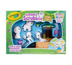 Scribble Scrubbie Pets Safari Tub Set Front View of Box