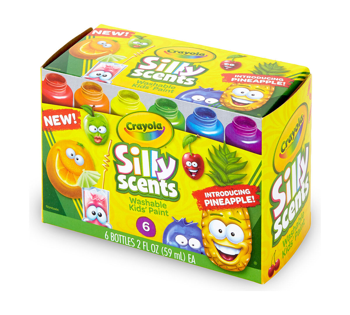 Crayola Silly Scents Washable Kids\' Paint, 6 Colors in 2-Ounce ...