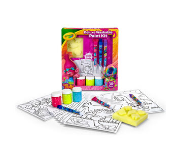 Trolls Deluxe Washable Paint Kit