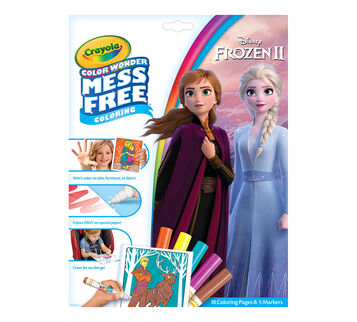 Color Wonder Mess Free Frozen 2 Coloring Pages & Markers Front View