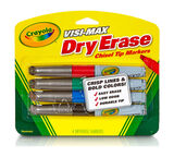 Visi-Max Dry Erase Broad Line Markers Front View of Package