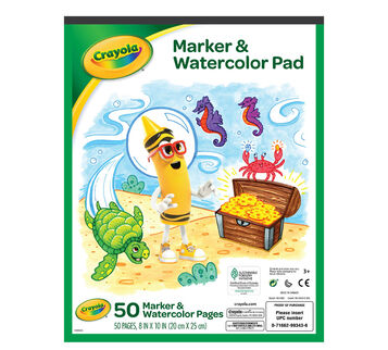 Crayola Marker and Watercolor pad front cover