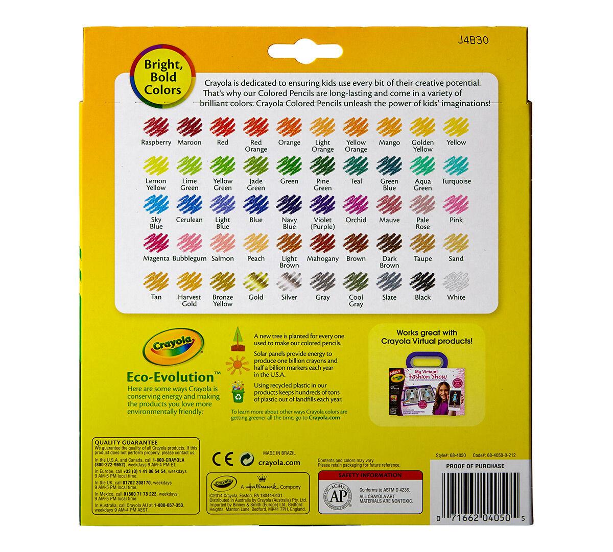 colored pencils 50ct coloring set crayola com