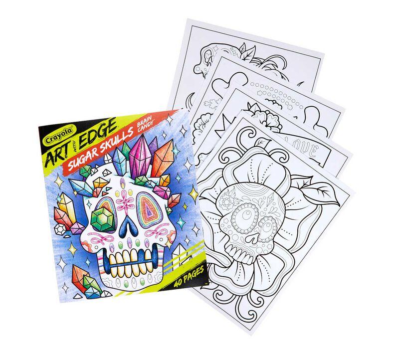 Art with Edge Sugar Skulls Coloring Book, Volume 3
