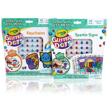 Glitter Dots 2-in-1 Craft Kit Front View
