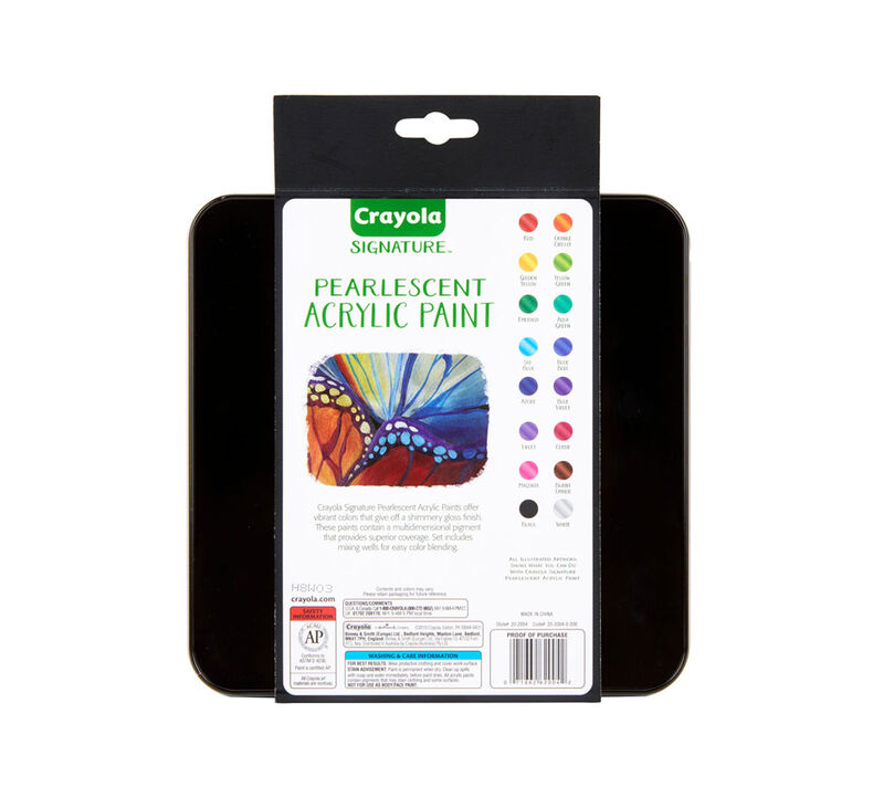 Signature Pearlescent Acrylic Paints, 16 Count