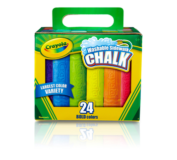 Washable Sidewalk Chalk, 24 Count front box