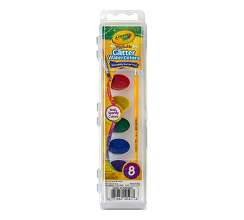 Washable Glitter Watercolors, 8 Count