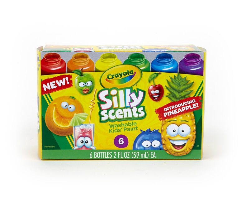 Silly Scents Washable Paints, Sweet Scents, 6 Count