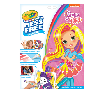 Color Wonder Mess Free Coloring Pad and Markers, Sunny Day