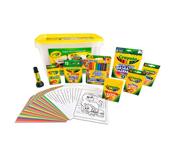 Super Art Coloring Kit package and contents