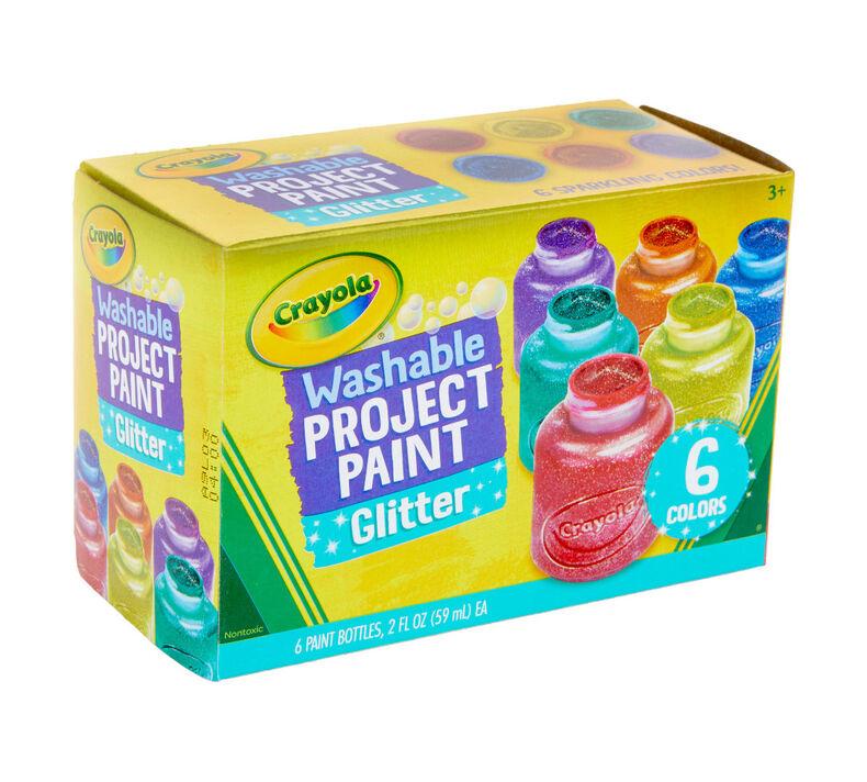 Washable Glitter Paint, 6 Count