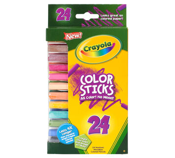 Color Sticks Colored Pencils, 24 Count