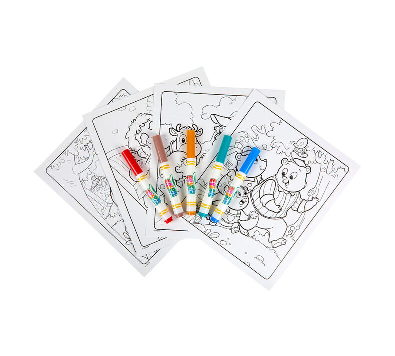 Color Wonder Mess Free Fairytales Coloring Pages & Markers