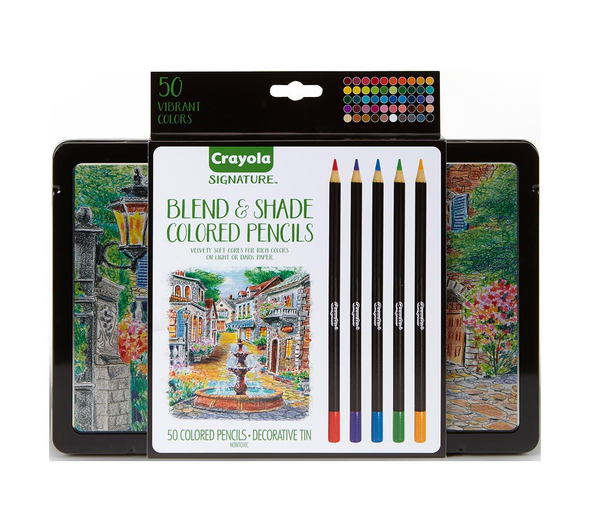 Crayola Signature Blend Shade Colored Pencils 50 Ct Storage Tin As I39m About To Begin An Expensive Color Mixing Project With Many Count In