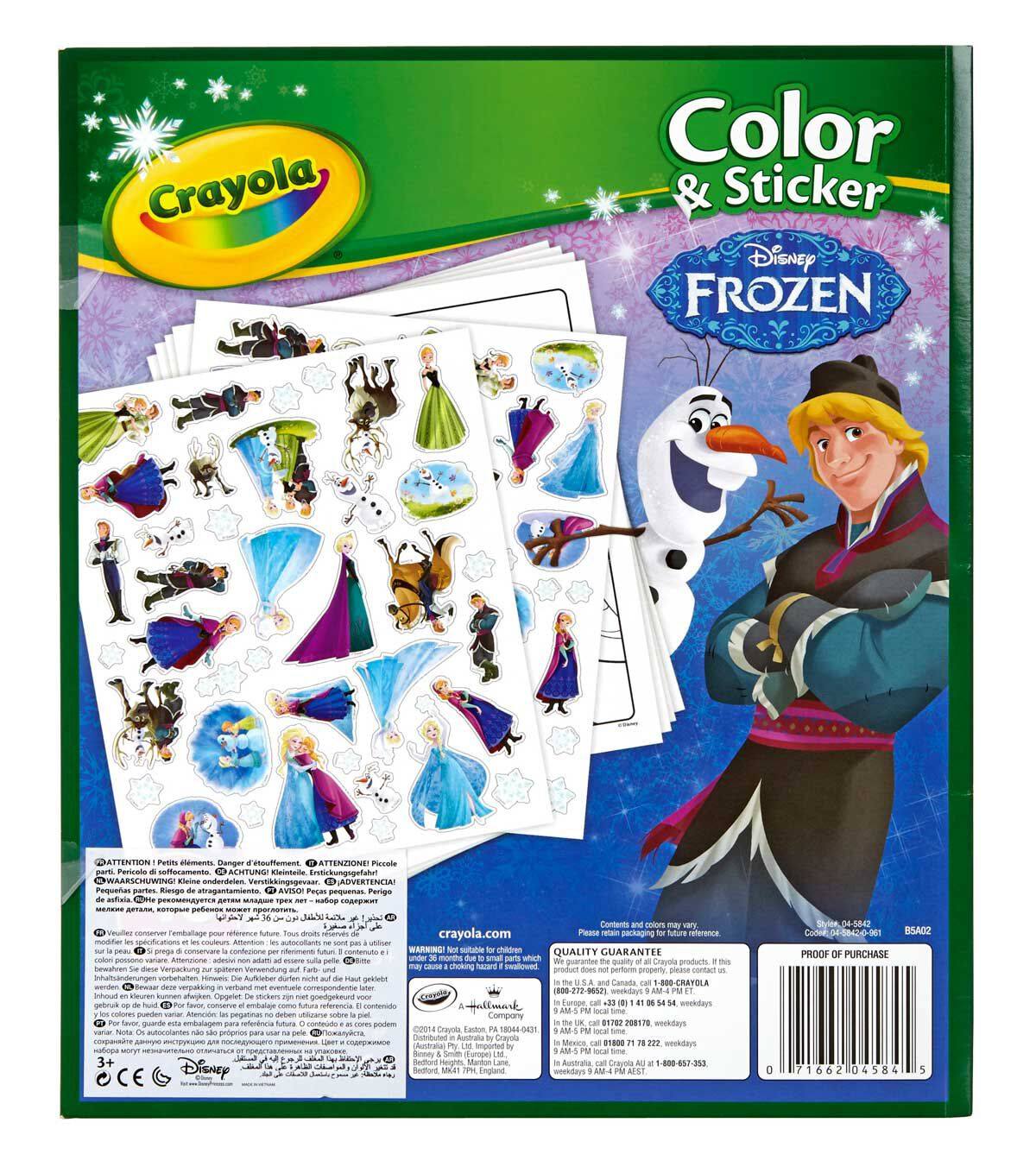 Frozen Color And Sticker Book