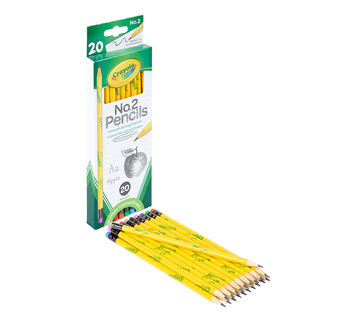 Crayola #2 Pencils 20 count front view