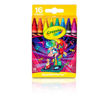 Unicorn Glitter Crayons, 16 Count