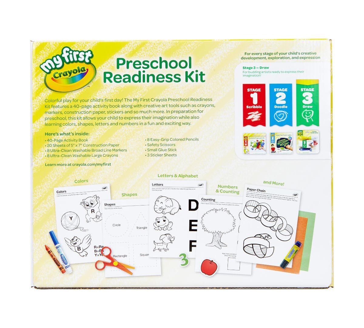 crayola my first crayola preschool readiness kit washable