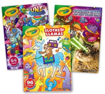 Animal Coloring Books, Set of 3