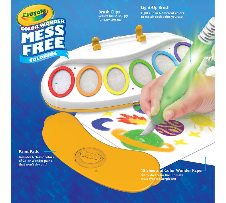 Color Wonder Magic Light Brush, Mess Free Painting