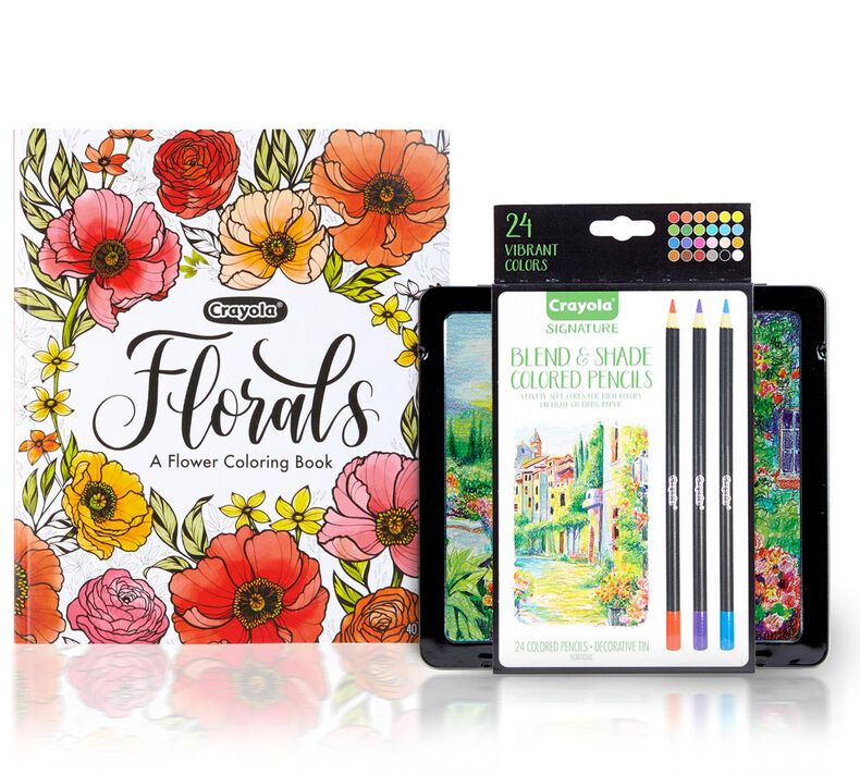 Florals,  A Flower Coloring Book, with Signature Colored Pencils