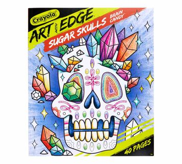 Art with Edge Sugar Skulls Coloring Book, Volume 3 Front of Book