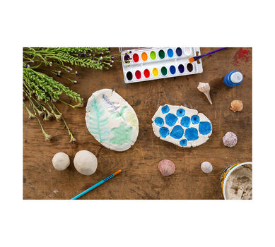 DIY Air Dry Clay Imprints Materials Kit