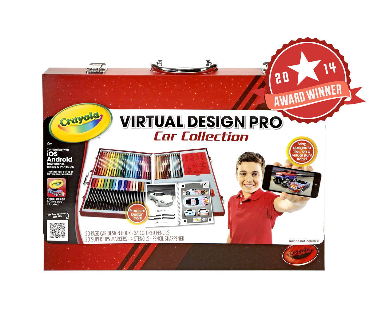 Crayola Virtual Design Pro Cars Set New Free Shipping