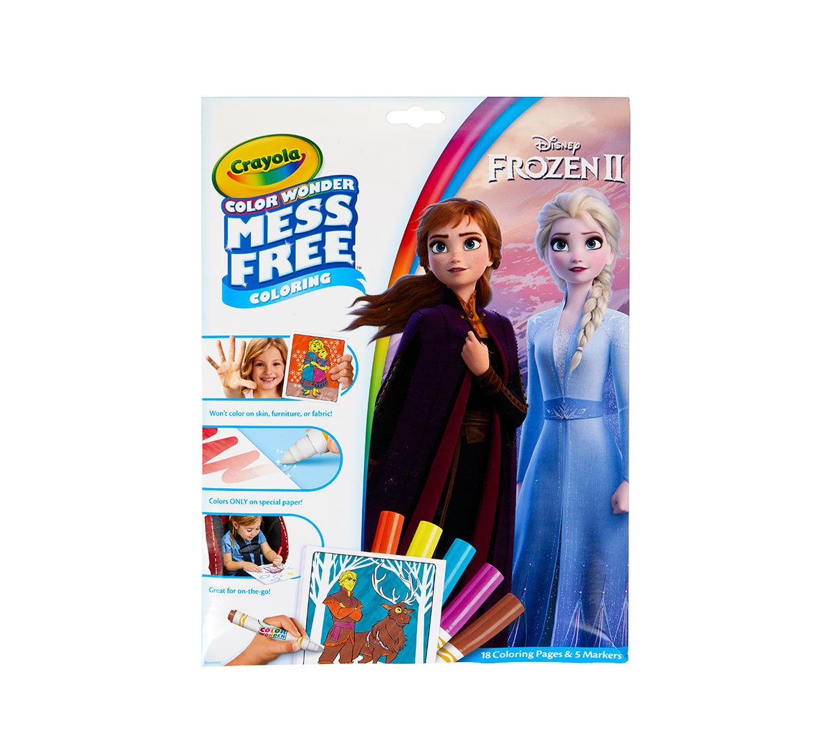 Frozen 2 Color Wonder Coloring Book Crayola.com Crayola