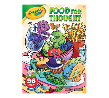 Food for Thought Coloring Book Front View