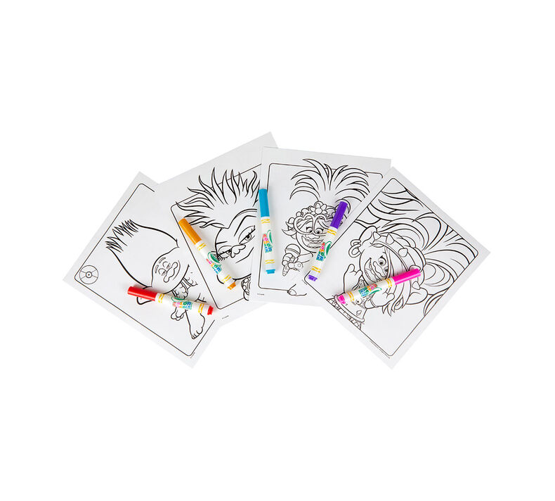 Color Wonder Trolls Coloring Pages & Markers | Crayola.com ...