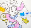 Color Wonder Mess Free Fancy Nancy Activity Pad In Use