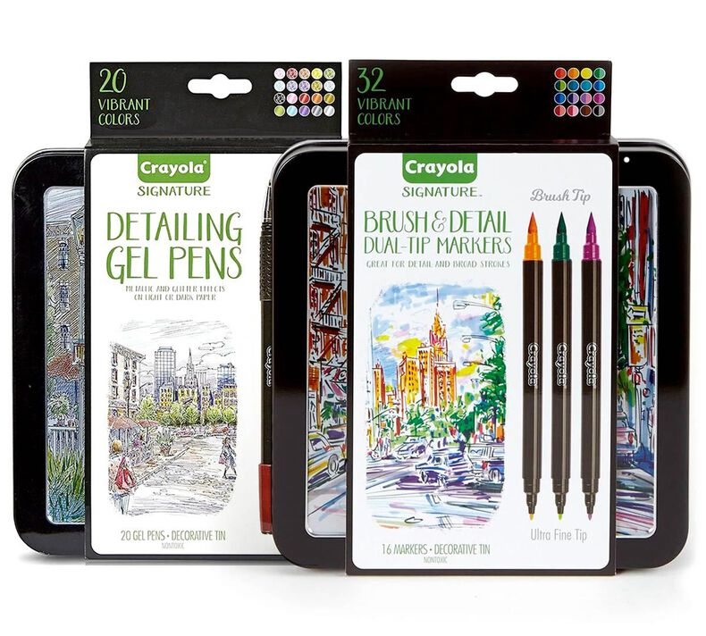 Signature Gel Pens and Brush & Detail Markers Set