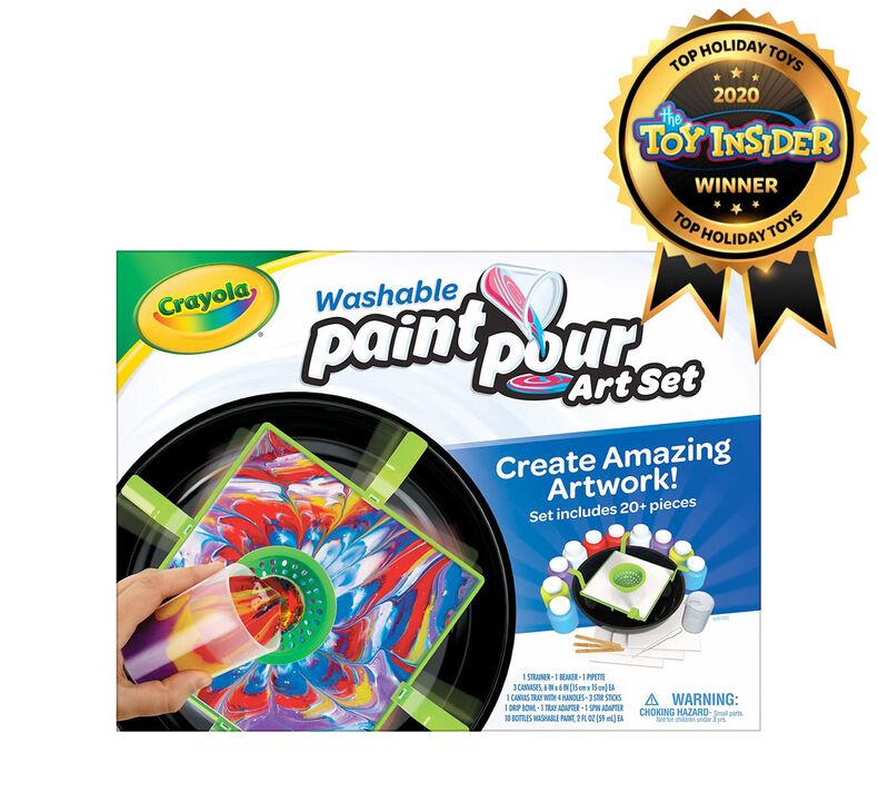 Washable Paint Pour Art Set