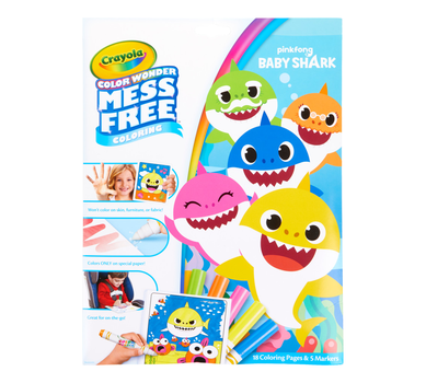 Crayola Color Wonder Baby Shark Coloring Pages, Mess Free ...
