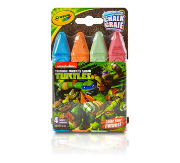 Teenage Mutant Ninja Turtles Washable Sidewalk Chalk, 4 count - Color Your Heroes!
