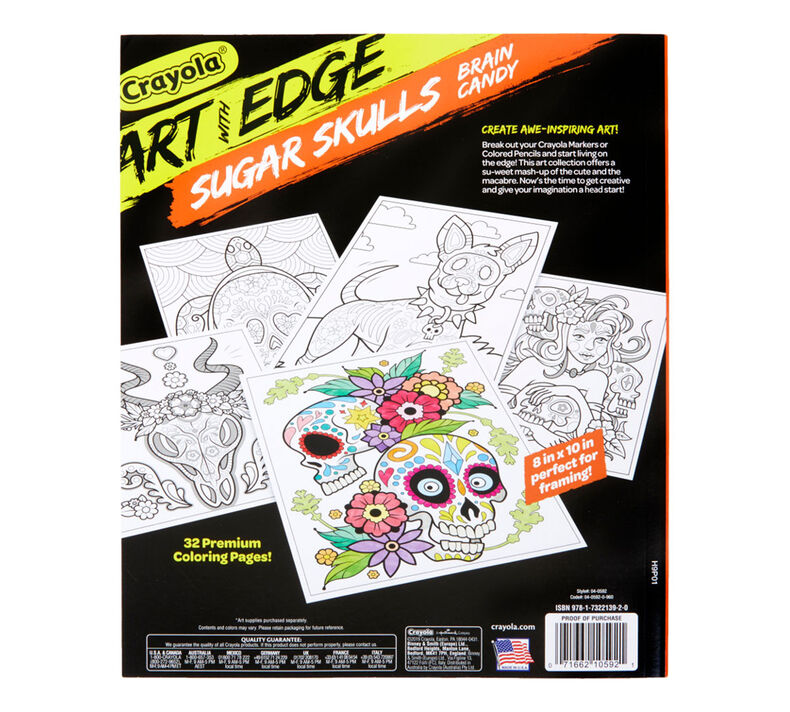 Art with Edge Sugar Skulls Coloring Book, Volume 3