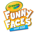 Funny Faces Zany Zoo book and crayons