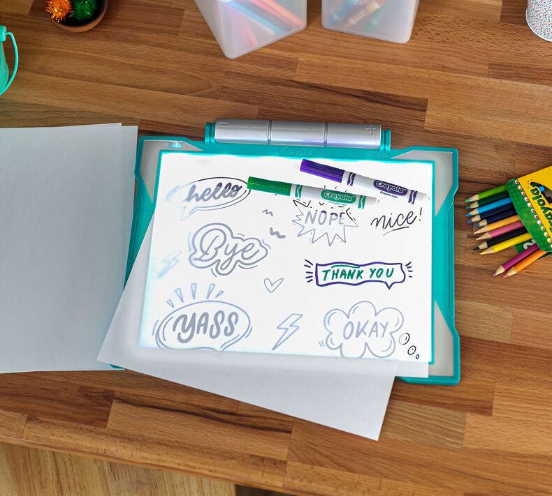 Teal Light Up Tracing Pad Gift For Kids Crayola Com Crayola