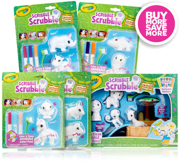 Scribble Scrubbie Safari 5-in-1 Gift Set - You Pick