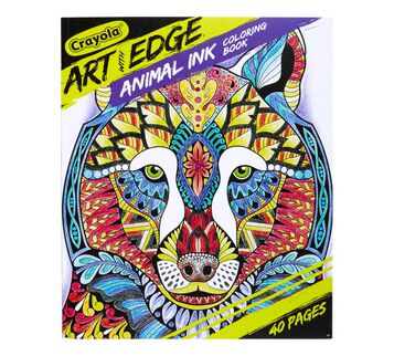 Art with Edge Jungle Animal Coloring Book Front View of Book