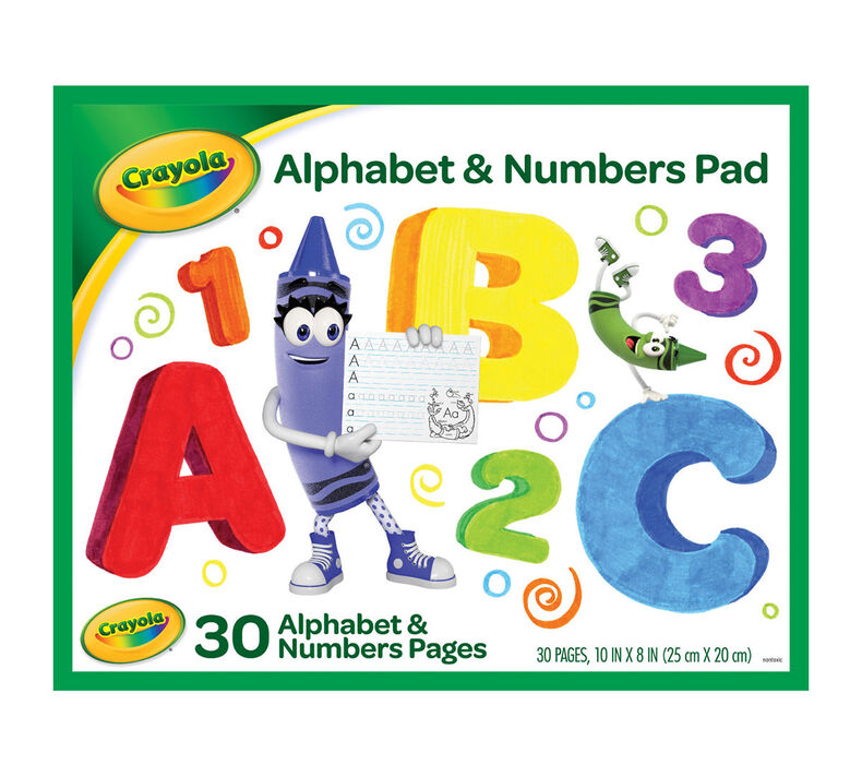 Crayola Letter and Number Tracing Worksheets, 30 Pages ...