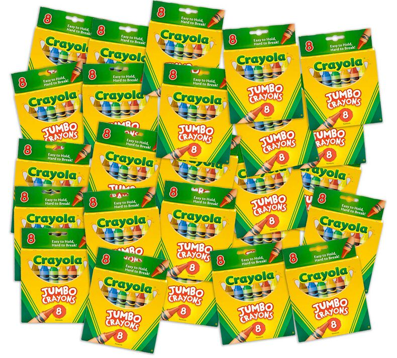 Crayon Classpack, 25 Individual Boxes of 8 Count Jumbo Crayons