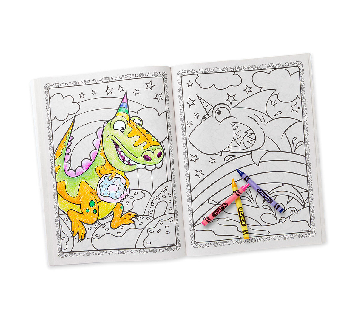 Uni Creatures Coloring Book Sticker Sheet