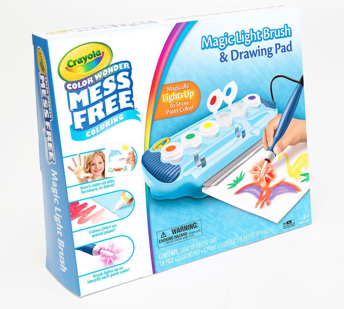 Crayola Color Wonder, Magic Light Brush, Mess-Free Art Activity, 6 ...