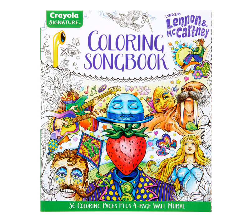 Signature Coloring Songbook, Lyrics of John Lennon & Paul McCartney